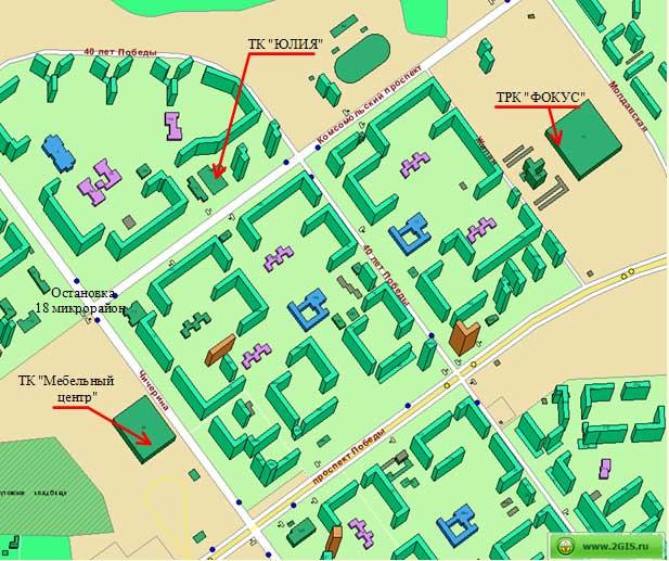 Схема проезда: Карта