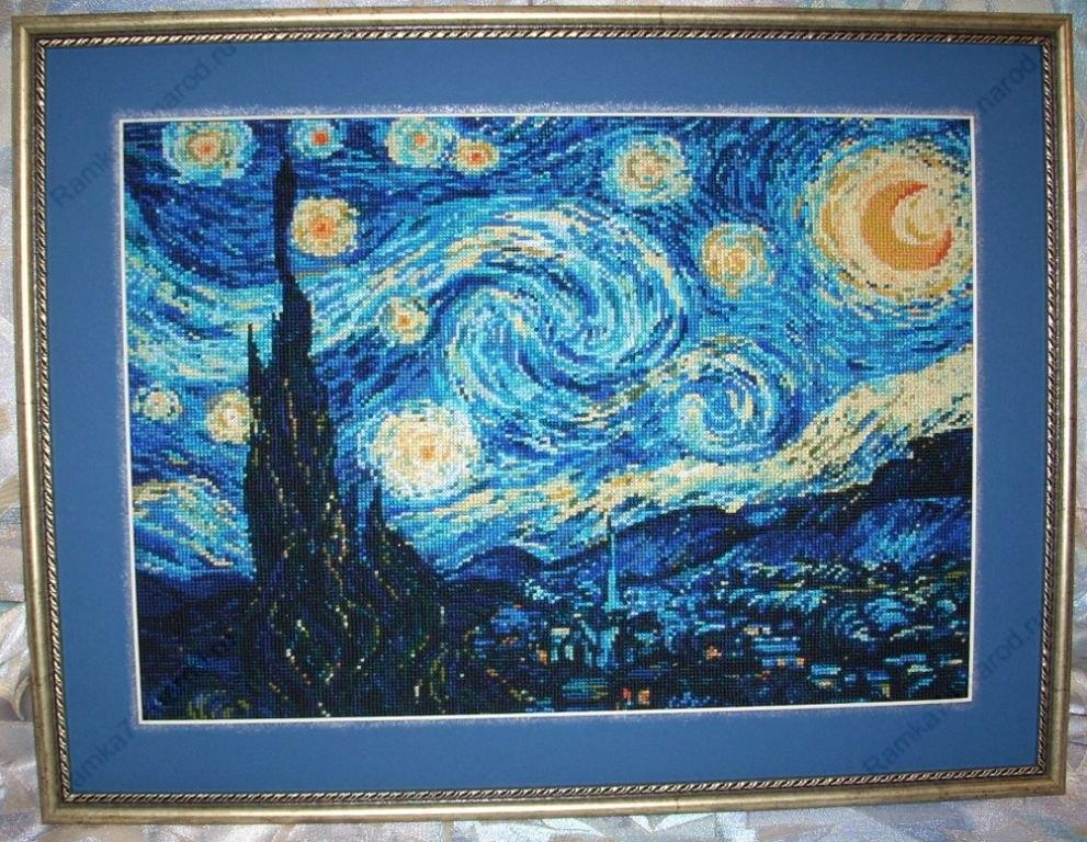 Вышивка риолис звездная ночь